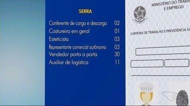 Sine da Serra, ES, tem 56 vagas de emprego abertas - Há também oportunidade estágio para estudantes de pedagogia em Vitória.