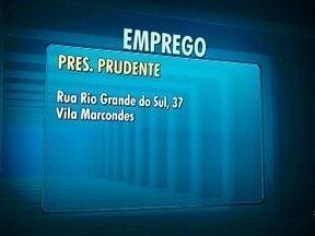Posto de Atendimento ao Trabalhador oferece vagas de emprego - Órgão fica na Vila Marcondes, em Presidente Prudente.
