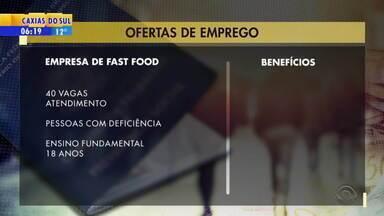 Empregos: empresa de fast food tem 40 vagas abertas - Veja mais detalhes.
