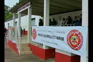 Encontro Regional do Projeto Bombeiros Mirins acontece em Bagé,RS - Oito cidades estão participando do evento.