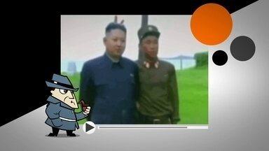 Detetive Virtual investiga fotos em que Kim Jong-un aparece com chifrinho - Soldado da Coreia do Norte teria feito brincadeira com o ditador do país. Será que a chacota é mesmo real ou tudo não passa de um truque?