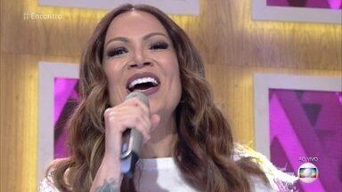 Solange Almeida canta 'Sinceramente' - Cantora agita a galera do 'Encontro'