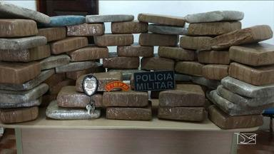 Polícia Civil e Militar realizam apreensão de grande quantidade de drogas no MA - As polícias chegaram a apreender mais de sessenta quilos de maconha.