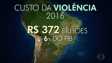 Violência custa R$ 372 bilhões ao país por ano, diz estudo - O valor corresponde a 6% do Produto Interno Bruto brasileiro.