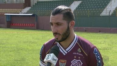 Sertãozinho apresenta Danilo Mederos como novo atacante do time - Jogador uruguaio acertou com o Touro dos Canaviais após passagem pelo Monte Azul.