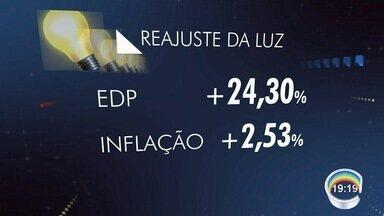 Aneel autorizou reajuste na conta de luz de 19 cidades da região - São cidades atendidas pela EDP Bandeirante. Aumento é de mais de 20% e começa a valer na próxima segunda-feira.