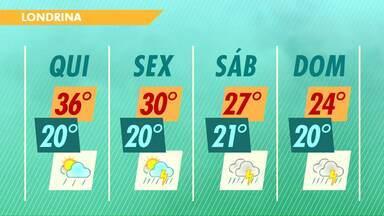 O tempo deve mudar nesta quinta-feira em todo o Estado - A previsão é que a chuva chegue ao norte do Paraná no início da noite.