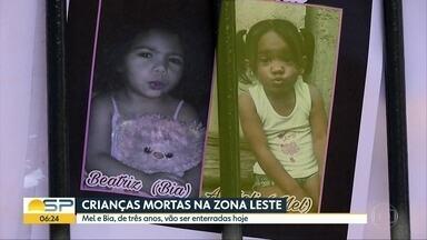 Corpos das meninas que morreram na Zona Leste serão enterradas nesta sexta-feira (20) - Pais das duas crianças foram ao IML liberar os corpos das filhas na tarde desta quinta-feira (19), dia em que polícia confirmou identidade das crianças Mel e Bia, de três anos, estavam desaparecidas desde o dia 24 de setembro.