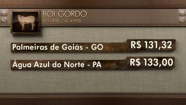 Globo Rural: cotações - Veja como ficaram os preços do boi e do café durante a semana.
