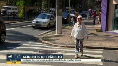 Estado de SP registra morte de mais de 700 idosos em acidentes de trânsito em 2017 - Segundo o Infosiga, um banco de dados do governo estadual, quase 60% dos acidentes ocorreram em ruas e avenidas municipais.