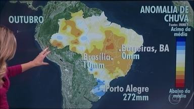 Previsão é de pouca chuva em parte do Centro-Oeste e Sertão nordestino - Região tem sofrido com o tempo seco. Alívio poderá chegar no mês de novembro.