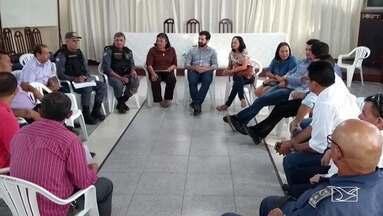 Combate à violência é tema de reunião em Santa Inês - Autoridades se comprometerem a intensificar as ações de combate à criminalidade.