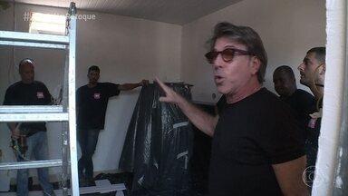 Jairo de Sender mostra detalhes do retoque no apartamento de Mayriane - Reaproveitando de materiais, o trabalho deixa o apartemento com uma cara única