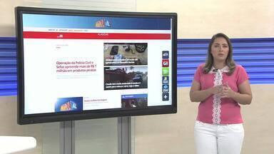 Confira as principais notícias do Portal G1 Alagoas - Repórter Carolina Sanches traz os destaques do portal.