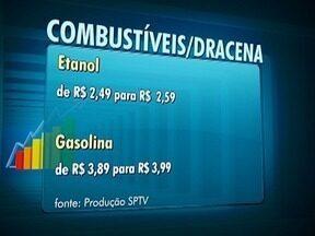 Preços dos combustíveis têm novo aumento em Dracena - Gasolina e etanol estão em média R$ 0,10 mais caros.