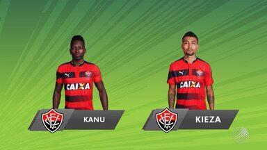 Vitória enfrenta o Atlético-GO; Kanu e Kieza estão disponíveis para a partida - Confira as notícias do rubro-negro baiano.