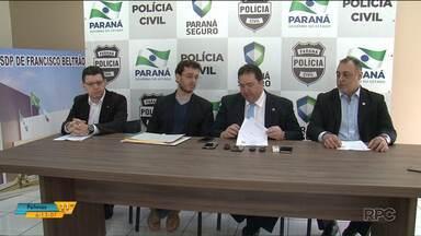 Polícia suspeita de fraude em prova de caso de morte de gerente de banco em Realeza - Um bilhete que indicava uma extorsão pode ser falso.
