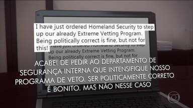 Trump manda endurecer ainda mais o veto a imigrantes após atentado - O presidente americano não explicou, no entanto, que medidas serão tomadas em relação ao assunto e a Casa Branca também não deu esclarecimentos.