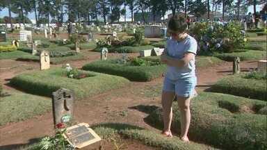 Visitantes fazem homenagens no Dia de Finados em cemitério de Franca, SP - Trinta mil pessoas devem passar pelo Cemitério da Saudade.