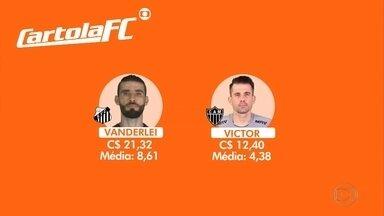 Santos x Atlético-MG, sábado, na Vila Belmiro, será um duelo de paredões - Santos x Atlético-MG, sábado, na Vila Belmiro, será um duelo de paredões