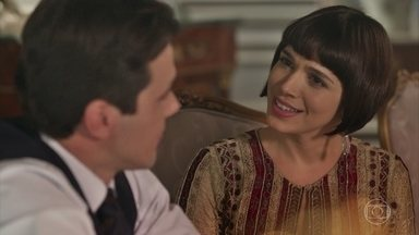 Olímpia desconfia de que Vicente esteja gostando de outra moça - Ela fica feliz em ver o irmão sorrir novamente