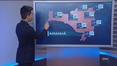Veja como ficará o tempo em todas as regiões de SC nesta sexta-feira (3) - Veja como ficará o tempo em todas as regiões de SC nesta sexta-feira (3)