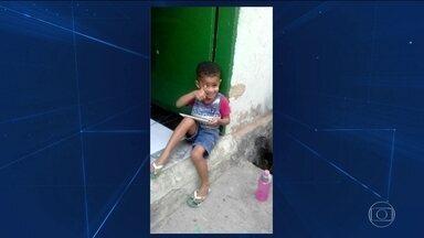 Menino atingido por bala perdida dentro de casa no RJ tem morte cerebral - Um menino de três anos, vítima de uma bala perdida, há três dias, na Baixada Fluminese, no Rio, teve morte cerebral.