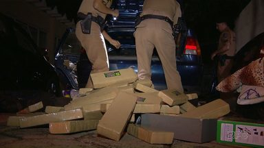 Polícia Militar apreende 94 kg de maconha em Foz do Iguaçu - Quatro homens foram presos.