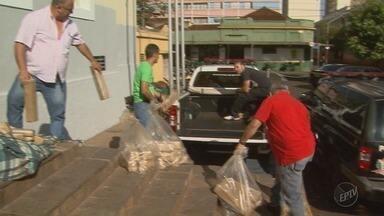 Polícia destrói duas toneladas de maconha em Ribeirão Preto, SP - Droga foi apreendida em várias operações que aconteceram durante o ano na cidade.