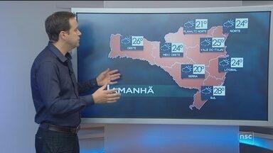 Veja como ficará o tempo em todas as regiões de SC nesta quinta-feira (9) - Veja como ficará o tempo em todas as regiões de SC nesta quinta-feira (9)