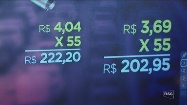 Após Petrobras anunciar reajuste, preço do combustível aumenta em até 17% em Florianópolis - Após Petrobras anunciar reajuste, preço do combustível aumenta em até 17% em Florianópolis