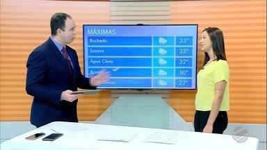 Confira como fica o tempo em Mato Grosso do Sul nesta sexta-feira (10) e sábado (11) - Previsão indica possibilidade de chuva e altas temperaturas no estado.