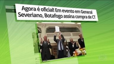 Botafogo fecha acordo por CT e sócios escolherão o nome do espaço atravez de votação - Botafogo fecha acordo por CT e sócios escolherão o nome do espaço atravez de votação.