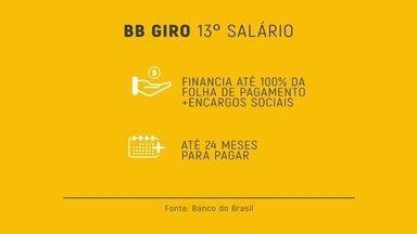 Linha de crédito é solução para empresas pagarem o 13º salário - Banco do Brasil oferece uma linha de crédito: o BB Giro Décimo Terceiro Salário. Ele auxilia os empresários a cumprirem suas obrigações trabalhistas e utilizar seu recurso próprio para incremento de seus negócios.