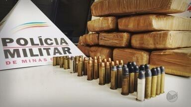 Operação contra o tráfico de drogas apreende 7 Kg de maconha e munições em Andradas (MG) - Operação contra o tráfico de drogas apreende 7 Kg de maconha e munições em Andradas (MG)
