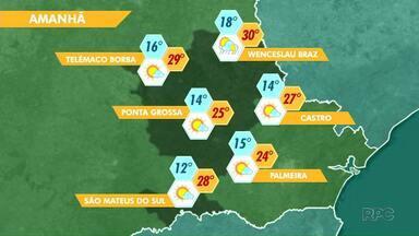 Sábado terá sol entre nuvens e domingo será de temperaturas mais baixas - Confira a previsão do tempo para a região de Ponta Grossa.