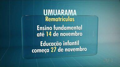 Atenção aos prazos para rematrícula - Em Paranavaí, as creches já fecharam o calendário