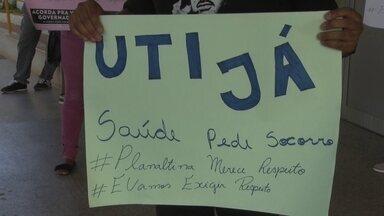 Moradores de Planaltina protestam contra mau atendimento do Hospital de Planaltina - Os problemas, segundo moradores,são os de sempre: falta de médicos e de vagas na UTI.