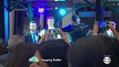 Família Lima se apresenta no Natal Musical de shopping no Recife - Show gratuito ocorreu no Shopping RioMar nesta terça-feira (14).