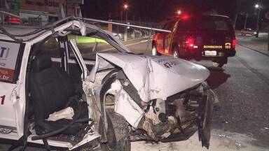 Mulher fica gravemente ferida em acidente em Curitiba - Motorista que provocou o acidente estava embriagado