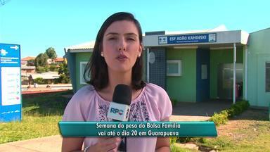 Semana do peso do Bolsa Família vai até o dia 20 em Guarapuava - Detalhes com a repórter Bruna Bronoski.