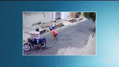 Flagrante mostra tentativa de assalto em Teresina - Flagrante mostra tentativa de assalto em Teresina