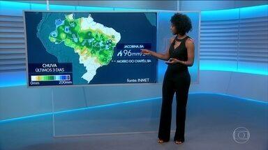 Veja a previsão do tempo para esta quinta (16) em todo país - Maria Júlia Coutinho conta os destaques da previsão do tempo. Palmas, Rio Branco e Porto Alegre estão na rota dos temporais.