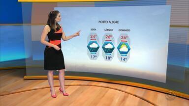 Tempo: temperaturas amenas devem ser registradas na sexta-feira (16) - Assista ao vídeo.