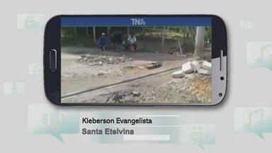 """Após denúncia, problema em rua no Santa Etelvina foi solucionado - Relato foi enviado pelo """"Tô na Rede""""."""