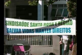 Chega ao quinto dia a greve dos funcionários do Hospital Dom Bosco - Eles estão acampados em frente ao hospital.