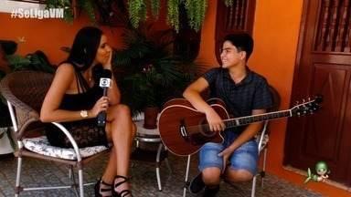 """Luan Rocha participa do quadro 'Iniciando Minha História na Música"""" - Niara Meireles entrevista o jovem que é promessa musical do Crato."""
