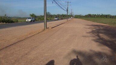 Obras na rodovia Duca Serra, principal acesso à Zona Oeste de Macapá, são aceleradas - Sistema de iluminação de alguns trechos deverá ser alterado, informou a Setrap.