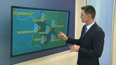 Previsão do tempo é de sol no domingo - A semana também começa com tempo bom em toda a região oeste.