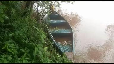 Pai e filho estão desaparecidos após barco virar em rio - Acidente acontecei na tarde de sábado no Rio Chopim em Itapejara D'Oeste.
